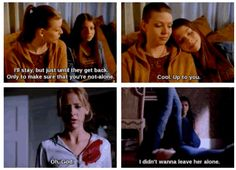 "When Tara and Dawn wouldn't leave each other. | 27 Times Tumblr Made ""Buffy"" Fans Weep Openly"