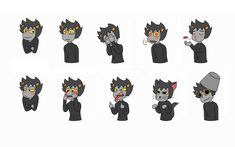 Well.. This is my set of stickers with Karkat for Telegram.   Enjoy :3