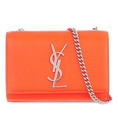 SAINT LAURENT Monogramme neon cross-body bag (Orange neon
