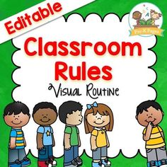 100 pages of printable visual picture prompts to help your Preschool, Pre-K, or Kindergarten students learn the classroom rules and routines.