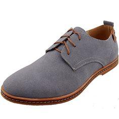 wholesale dealer 952ea 9a5c9 DADAWEN Mens Leather Oxford Shoe Grey US Size 9 DADAWEN httpwww.