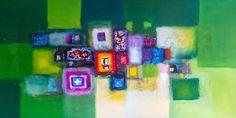Gemalt mit Acrylfarbe malen auf weißer Leinwand und Messung 100cm x 200 cm. schöne Stück mit Farbwechsel von Grün, gelb, blau, lila, rot und mit einem Mix aus dunkleren Farben gemischt. Es gibt viele große Dimension dieses ursprüngliche Stück. Kostenloser Versand. Das Gemälde wird
