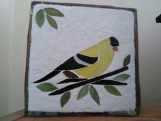 Stained glass goldfinch glass block Goldfinch, Stained Glass Projects, Glass Blocks