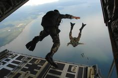Jump out of a plane, Military style.