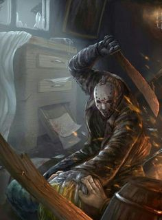 Jason Voorhees-Friday The Jason Voorhees, Slasher Movies, Horror Movie Characters, Horror Movies, Arte Horror, Horror Art, Horror Photos, Horror Icons, Friday The 13th