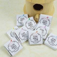 Darčeky pre svadobčanov - Čokoládky s kryštálikom II - 7509565_