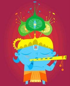 Artist Sanjay Patel's Krishna
