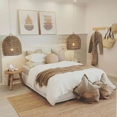 Room Ideas Bedroom, Home Decor Bedroom, Tan Bedroom, Beige Bedrooms, Neutral Bedroom Decor, Bedroom Art, Neutral Colored Bedroom, Bedroom Decor Natural, Bedroom Colors
