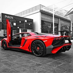 Lamborghini Aventador Super Veloce Coupe painted in Rosso Bia  Photo taken by: @drmohamedalsulimani on Instagram
