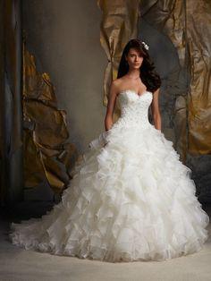 Princess Ballgown Wedding Dress   Mori Lee Blu