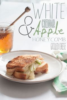 White Cheddar and Apple Honeycomb Grilled Cheese
