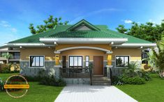 Nestor 3 Bedroom Small Contemporary House Design - Pinoy House Designs - Pinoy H. Modern Bungalow House Plans, Bungalow Haus Design, My House Plans, Craftsman Style House Plans, Bedroom House Plans, Small Bungalow, Small House Design, Cool House Designs, Style At Home