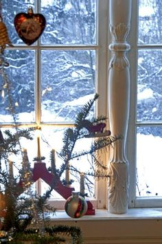 Christmas in Norway!!! Bebe'!!! A Norwegian wooden candelabra with candles!!!