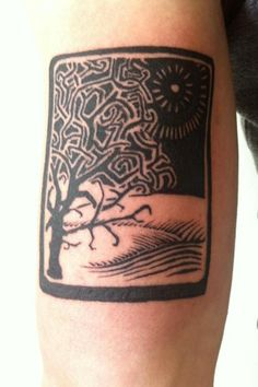 BRUCIUS TATTOO - woodcut