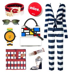"""""""Blocked Stripes"""" by psgiftguide on Polyvore featuring Dolce&Gabbana, Lego, Les Petits Joueurs, Michael Kors, Ray-Ban, Gucci and Chloé"""