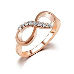 iMucci New Design hot sale Fashion Alloy Crystal Rings Gold Color Infinity Ring Statement jewelry Wholesale for women Jewelry Turquoise Jewelry, Gold Jewelry, Fine Jewelry, Women Jewelry, Turquoise Fashion, Cheap Jewelry, Jewelry Rings, Jewelry Accessories, Jewelry Case