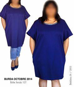 Bettikou: Robe boule bleu marine