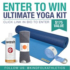 2/11. Win this Ultimate Yoga Kit valued at $175!
