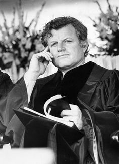 Ted Kennedy At Holy Cross Commencement 1977