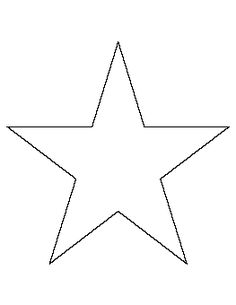 7 Inch Star Pattern Use The Printable Outline For Crafts