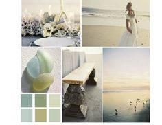 Gorgeous #beach #wedding colors! Perfect for a seaside wedding with a vintage feel.