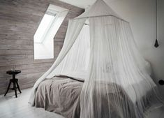 Modern four-poster bed for bedroom for adults and children .- Modern four-poster bed for bedroom for adults and children - - Web 2020 Best Site Dream Bedroom, Home Bedroom, Bedroom Decor, Bedroom Loft, Bedroom Ideas, Master Bedroom, Attic Bedrooms, Bedroom Photos, Bedroom Inspiration