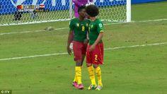 Flashpoint: Benoit Assou-Ekotto clashed with Benjamin Moukandjo in Manaus...