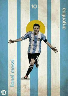 Lionel Messi of Argentina wallpaper.