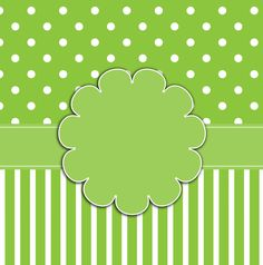 Polka Dots & Stripes zöld