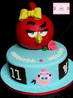Girl Angry Bird Cake