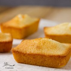 Financiers (French Almond Cakes) perfect for a special occasion like Mother's Day, but simple enough for everyday Wooden Cupcake Stands, Rustic Cake Stands, French Almond Cake Recipe, Financier Recipe, Cupcake Carrier, Little Cakes, Almond Cakes, Tea Cakes, Afternoon Snacks