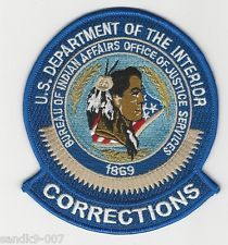 Indian Affrs Corrections Tribal POlice shoulder patch State Arizona AZ patch
