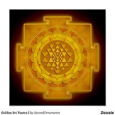 Golden Sri Yantra I Poster