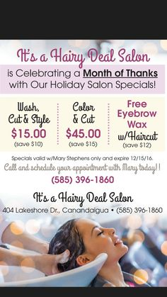 Salon holiday specials - Decoration For Home Salon Promotions, Salon Quotes, Salon Business, Salon Services, Cosmetology, Cut And Color, Social Media, Holiday, Hair Captions