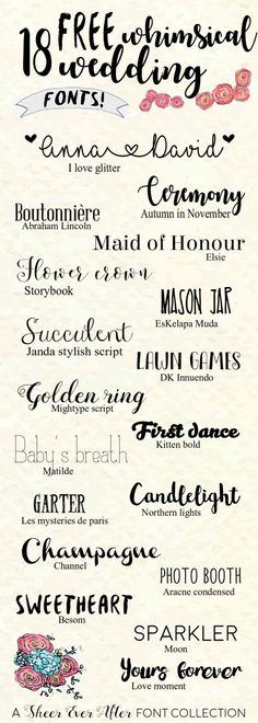 A most wonderful collection invites diy cricut FREE Whimsical wedding fonts Fancy Fonts, Cool Fonts, Pretty Fonts, Awesome Fonts, Letras Cool, Latest Fonts, Diy Invitations, Wedding Invitation Fonts, Wedding Calligraphy Fonts