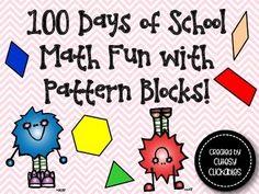 100 Days of School Math Fun with Pattern Blocks {100th Day