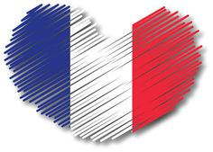French flag patriotic heart