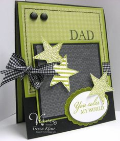 #cardsformen #Dad's Card...#Verve Sneak Peak by Theresa Kline via Cards and Paper Crafts at Splitcoaststampers. For My handmade greeting cards visit me at My Personal blog: http://stampingwithbibiana.blogspot.com/