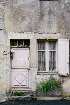 You just can't beat a rural French door and exploring ancient villages in the rain. Home Styles Exterior, Interior And Exterior, Interior Design, French Cottage, French Farmhouse, Old Doors, Windows And Doors, Dutch Door, Photo Journal