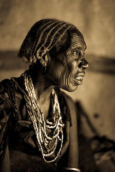 portrait of a old woman tribe Borana inside the hut by anthony pappone photographer, via Flickr