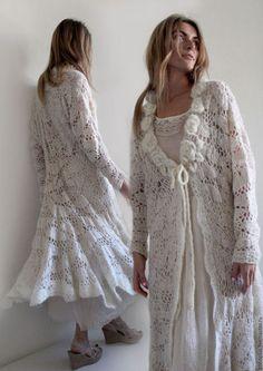 """Кофты и свитера ручной работы. Заказать Вязаное пальто """"Роса на утренней розе""""…"""
