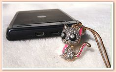Cute Kitty Dustproof Plug for your cellphone and tablets by UrLove, $15.00