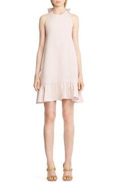 Valentino Flutter Hem Silk Halter Dress available at #Nordstrom