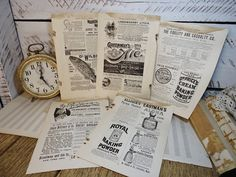Antique Advertisements from the 1800's  Set of 5 by KnickofTime