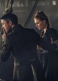 Game of Thrones - Petyr Baelish and Sansa Stark.