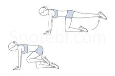 Donkey kicks are a simple but effective exercise that targets the glutes and helps to tone, tighten and strengthen your buttocks. To give your glutes a great workout, combine a set of donkey kicks with a set of fire hydrants. http://www.spotebi.com/exercise-guide/donkey-kicks/
