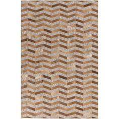 Surya Medora Hand-Crafted Brown/Neutral Area Rug Rug Size: