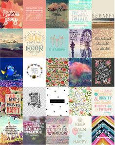 Instant Download - Planner Calendar Label Squares - Life Quotes 2 - Fits Erin Condren Life Planners