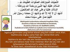 MAKSUD BACAAN DALAM SOLAT - GAMBAR KARTUN SOLAT (Tahiyat Awal)