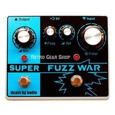 Death By Audio Super Fuzz War Limited Edition Guitar Effect Pedal DBA #DeathByAudio #EffectsPedals